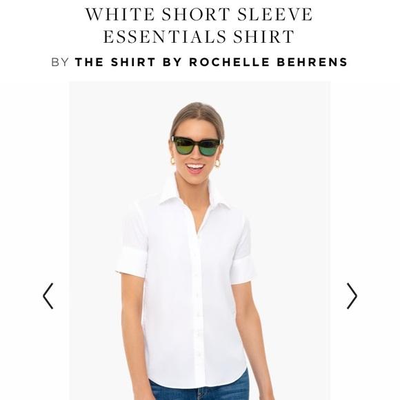 The Shirt by Rochelle Behrens Tops - ⚡️SALE! NWOT White Short Sleeve Essentials Shirt